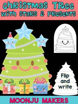 Christmas Tree w Stars & Presents - Moonju Makers for Activities, Craft, Decor