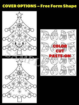 Christmas Tree with Birds - Moonju Makers for Activities, Craft, Writing, Decor