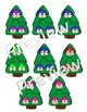 Christmas Tree with Snowman Emotion Matching Puzzle Game or Center Activity