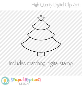 Christmas Tree with Star Clip Art