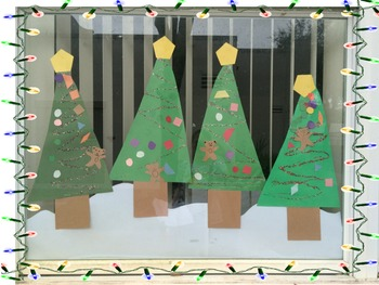 Christmas Tree with shapes craft