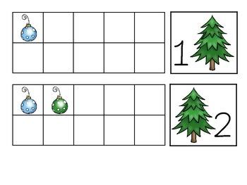 Christmas Tree Ten Frames