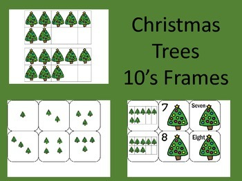 Christmas Trees 10's Frames
