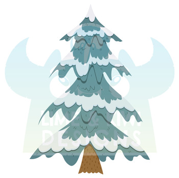 Christmas Trees 2 Clipart | Instant Download Vector Art | Commercial Use Clip Ar