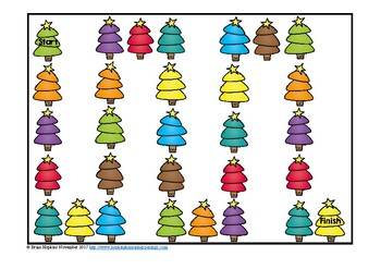 Christmas Trees 2 Digit Subtraction Regrouping Task Cards