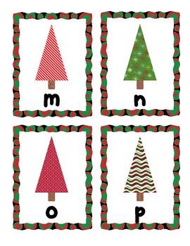 Christmas Trees Alphabet Scavenger Hunt: Upper and Lowercase Letters