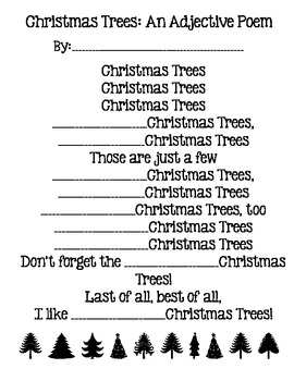 Christmas Adjectives Worksheet - Mamas Learning Corner