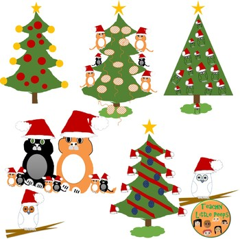 Christmas Trees,Cats and Owls Oh My