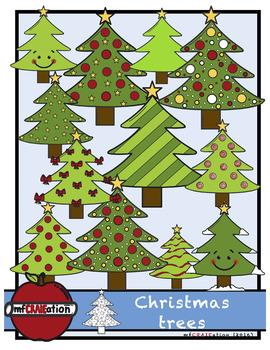 Christmas Trees Clip Art