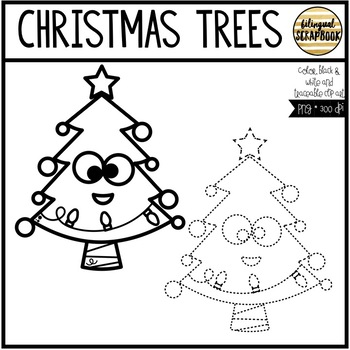 Christmas Trees (Clip Art for Personal & Commercial Use)