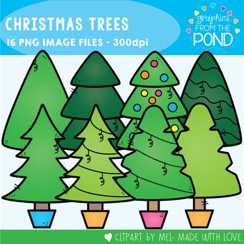Christmas Clipart {Christmas Trees}