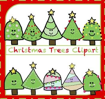 Christmas Trees Clipart / Xmas Clipart {Christmas Clipart}