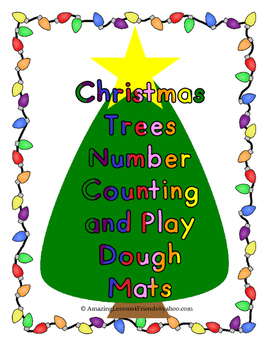 Christmas Trees Counting and Play Dough Mats