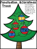 Christmas Trees Editable! (Punctuation, Sight Words, Letters, Numbers...)