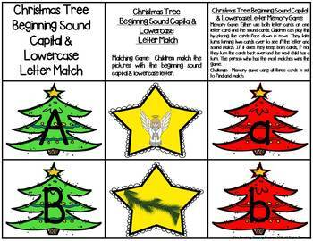 Christmas Trees Letter & Sound Match Game