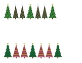 Christmas Trees: Matching/Pattern Practice for preschool & Kg