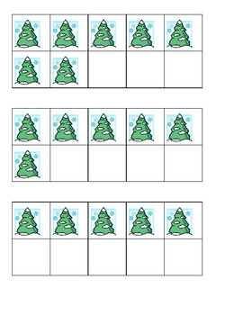 Winter Trees Ten Frames Games - FREE