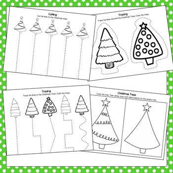 Christmas Trees Preschool Packet