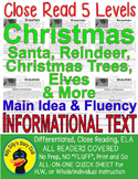 Christmas Trees Santa Reindeer & More Close Reading 5 LEVEL PASSAGES!!!