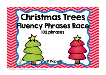 Christmas Trees Sight Word Fluency Phrases Race