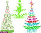 Christmas Trees Star Clip Art modern xmas card retro decorations ornaments -1E-