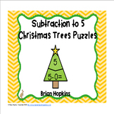 Christmas Trees Subtraction to 5 Puzzles