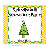 Christmas Trees Subtraction to 10 Puzzles