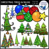 Christmas Trees and Ornaments / Bulbs Clip Art