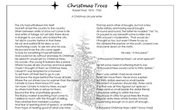 Christmas Trees by Robert Frost PowerPoint and Close Reading