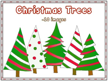 Christmas Trees {clipart}