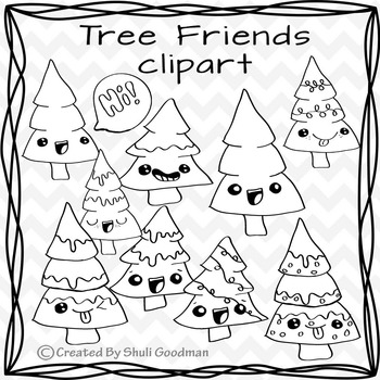 Christmas Trees clipart - Tree Friends