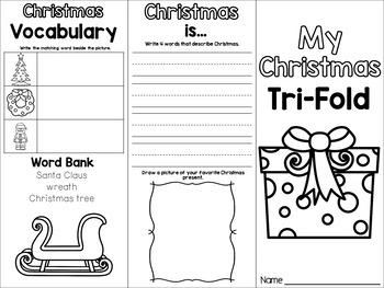 Christmas Tri-Fold