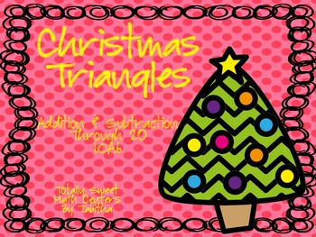 Christmas Triangles- Addition 1.OA.6