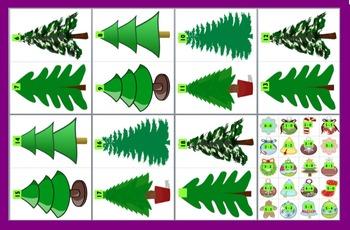Christmas Math Center Subtraction Trim A Tree Match - 190 Facts