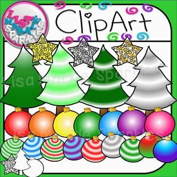 Christmas Trim a Tree Clip Art