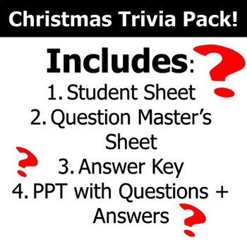 Christmas Trivia - Game + PowerPoint!