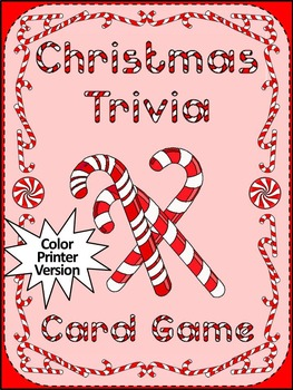 Christmas Trivia Card Game Activity Packet