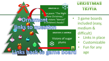 Christmas Trivia (3 game boards-PowerPoint)
