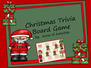Christmas Trivia Board Game