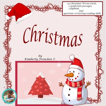 Christmas Trivia Cards, Nonfiction passages, Printables, &