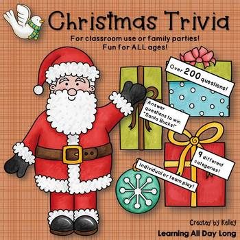 Christmas Trivia For Family or Classroom Fun