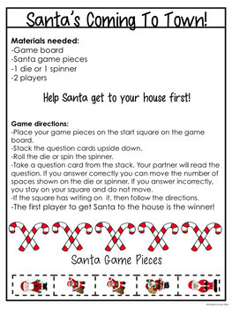 christmas trivia game fun activity no prep santas coming to town game - Fun Christmas Trivia