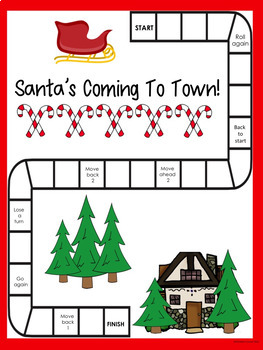 Christmas Trivia Game Fun Activity  No Prep   Santa's Coming To Town Game