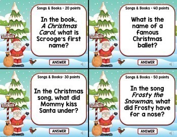 Christmas Trivia Jeopardy Game: A PowerPoint Jeopardy Style Game Show - Editable