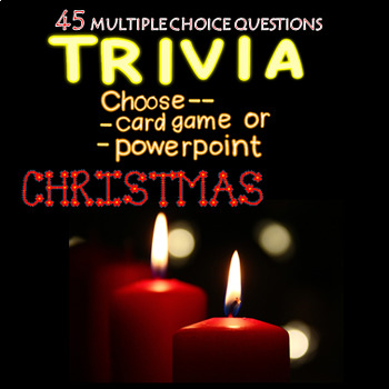 Christmas Trivia Powerpoint or Card Game