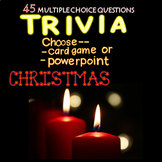 Christmas Trivia Powerpoint/Card Game 45 Qs Distance Learning