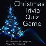 Christmas Trivia Quiz Game (33 Questions)
