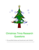 Christmas Trivia Research Questions