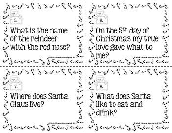 Christmas Trivia Scoot Game