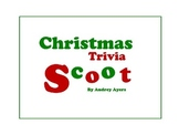 Christmas Trivia Scoot! Game-- Party Game, Rainy Day Game